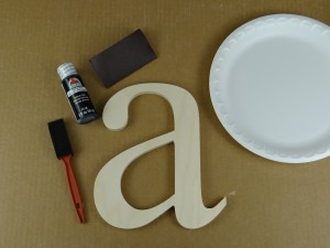 gather supplies for painting letters