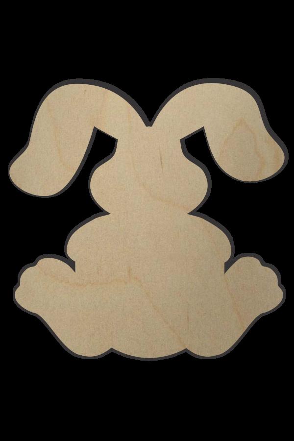 Wooden Bunny Shape W Letter Wood Rabbit Shape Monogram