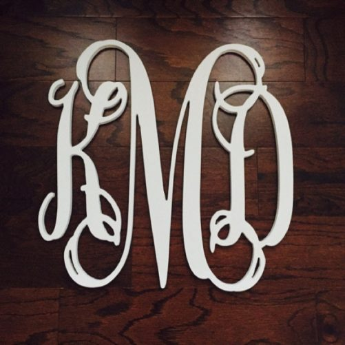 Wooden monogram by WoodenLetters.com