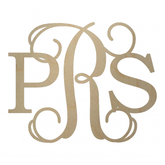 Diametric Wooden Monogram - pRs