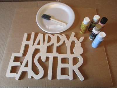 Happy Easter Sign 0