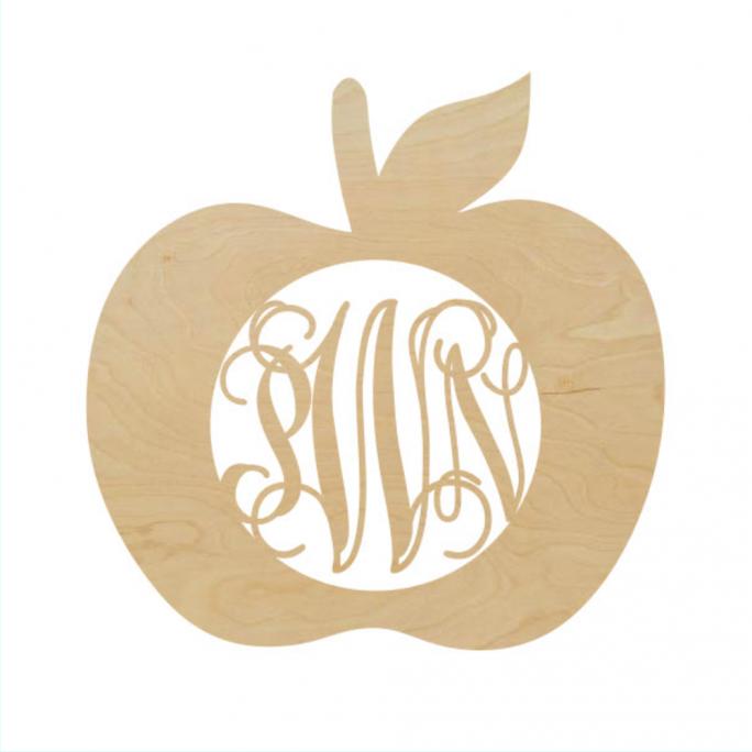 Apple Border Script Monogram