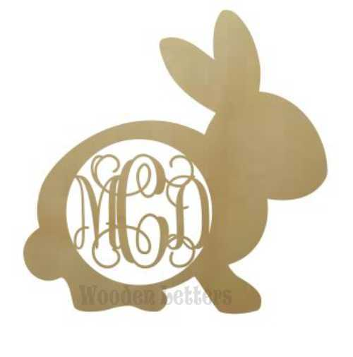 Wooden Monogram Cutouts