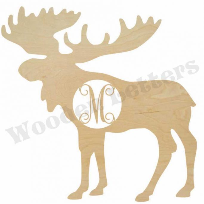 Wooden Moose Monogram
