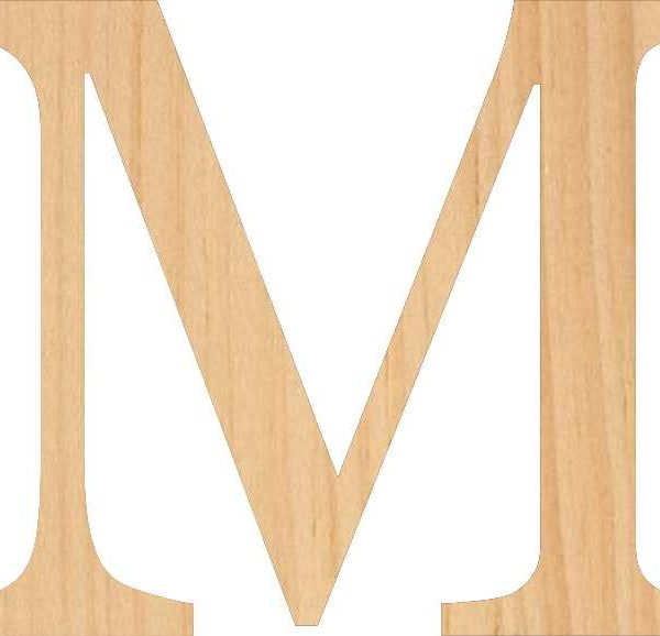 Pine Wood Letters
