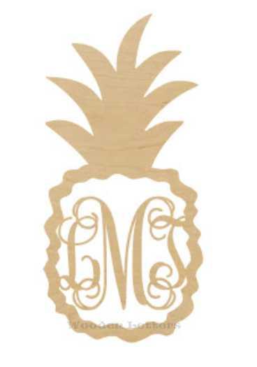 Pineapple Border Script Monogram